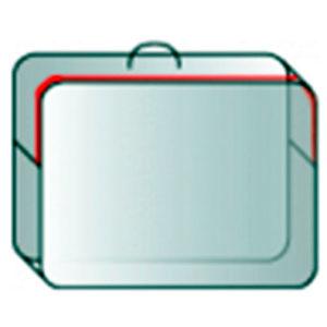 Чемодан из ПВД с кедером прозрачным