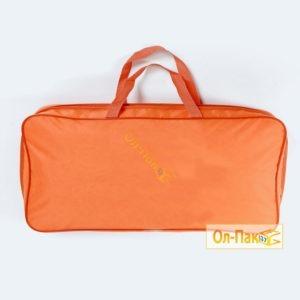 Упаковка для одеял оранжевого цвета с ручками