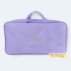Упаковка для одеял из спанбонда фиолетового окраса
