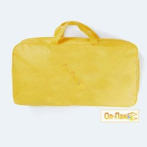 Упаковка для одеял из спанбонда жёлтого цвета